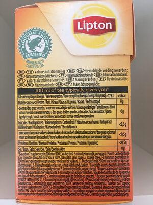 Tea vanilla caramel - Nutrition facts - en