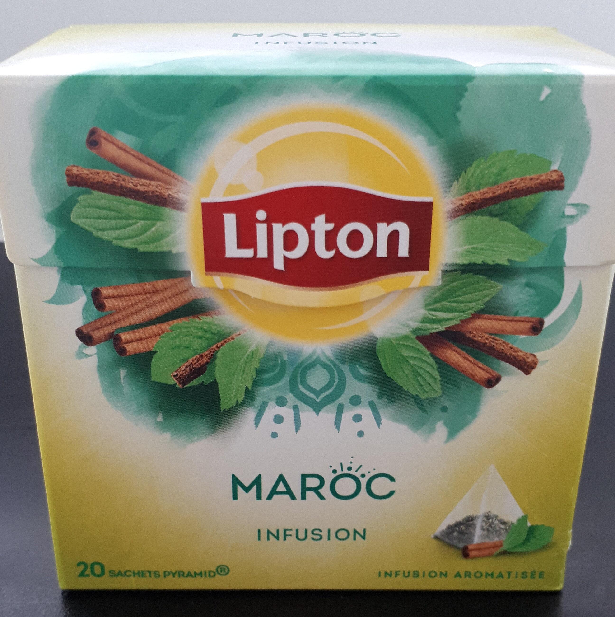 Lipton Tisane Maroc à la Menthe & aux Epices 20 Sachets Pyramides - Voedingswaarden - fr