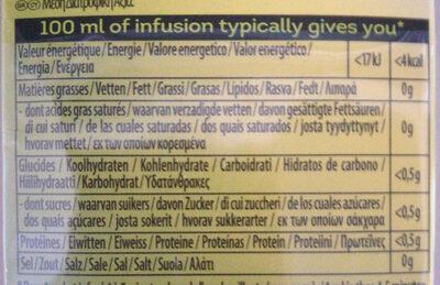 Infusión herbal morocco sin cafeína - Voedingswaarden - nl