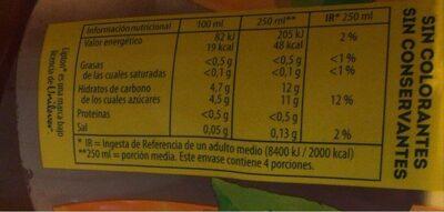 Lipton ice tea melocotón - Informations nutritionnelles - fr