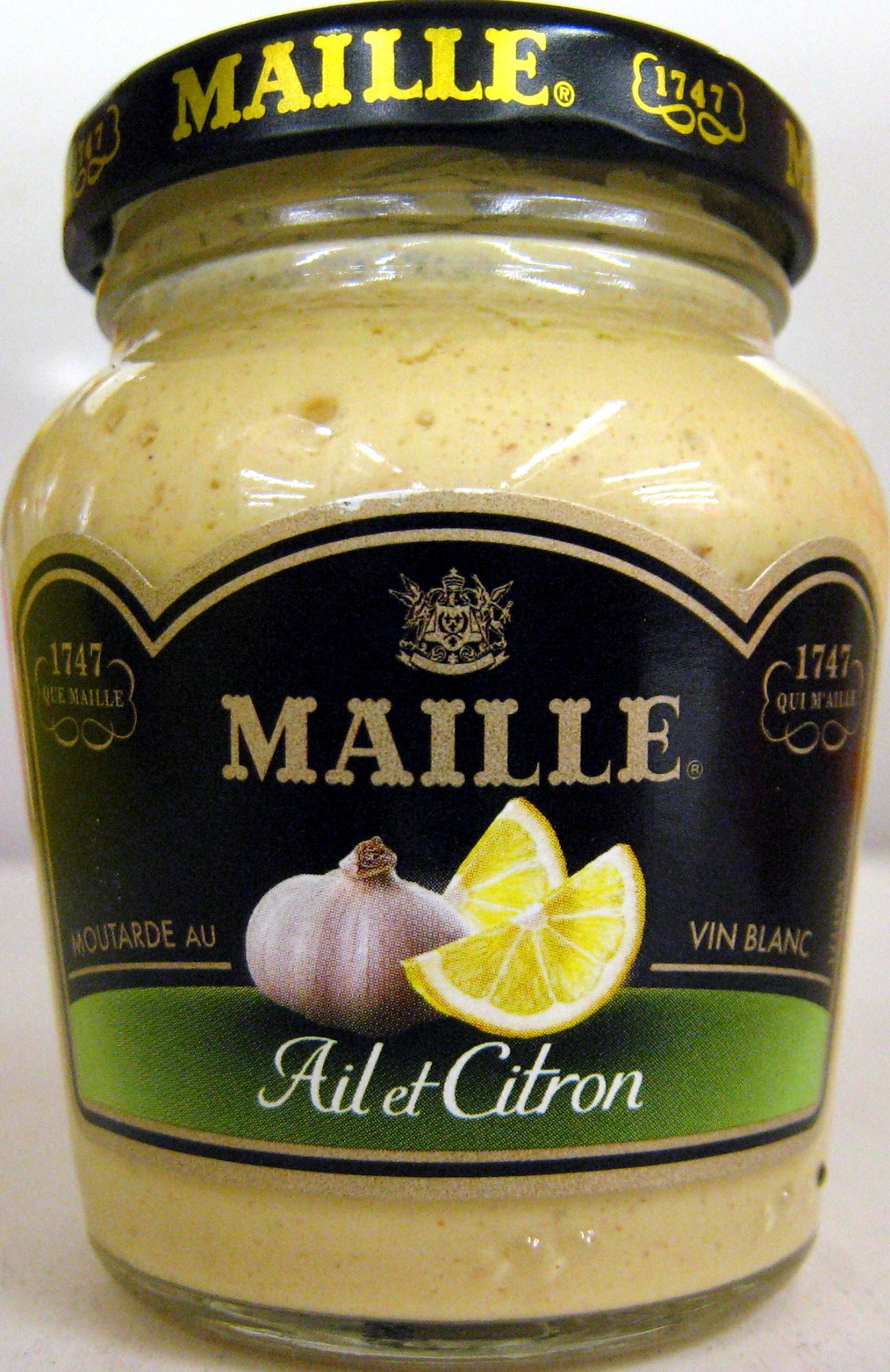 moutarde au vin blanc l 39 ail et au citron maille 108 g. Black Bedroom Furniture Sets. Home Design Ideas