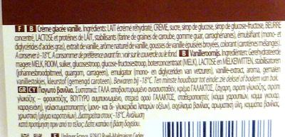Crème de Vanille - Ingrédients - fr