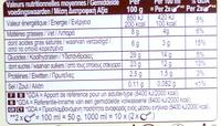 Crème de Vanille - Informations nutritionnelles - fr