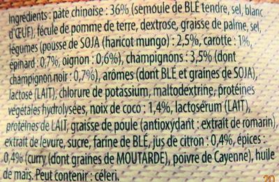 Soupe Thaï, nouilles-champignons & pousses soja - Ingredients