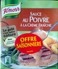 Sauce au Poivre à la crème fraîche - Produit
