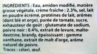 Knorr Sauce Poivre à la Crème Fraîche 30cl Offre Saisonnière - Ingredients - fr