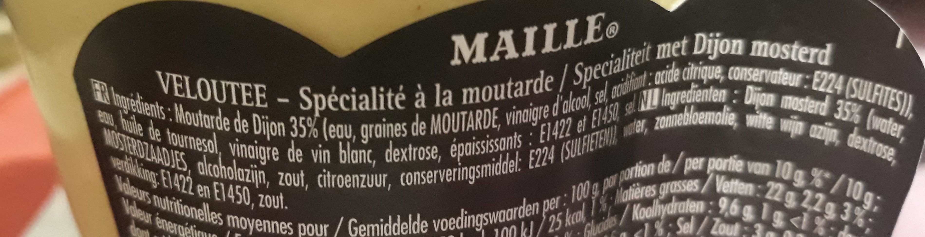 Maille Specialite à la Moutarde Veloute Bocal 360g - Ingredienti - fr