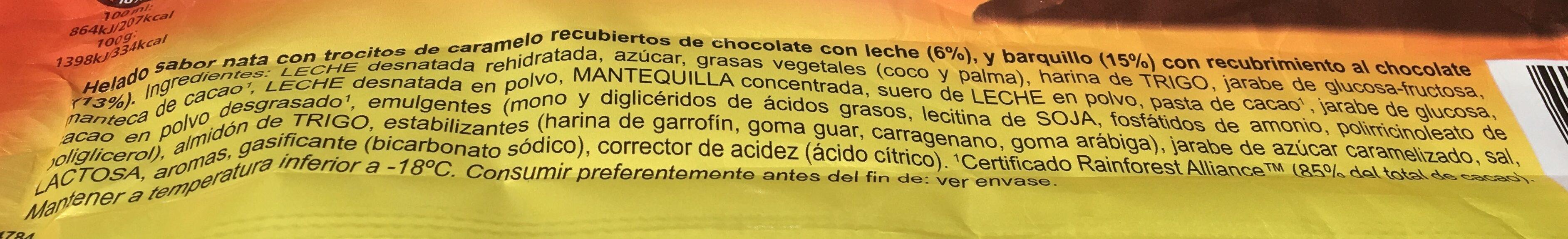 Helado Frigo Negriton Unidad - Ingredients
