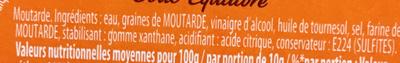 Amora Moutarde Mi-Forte Verre - Ingredienti - fr