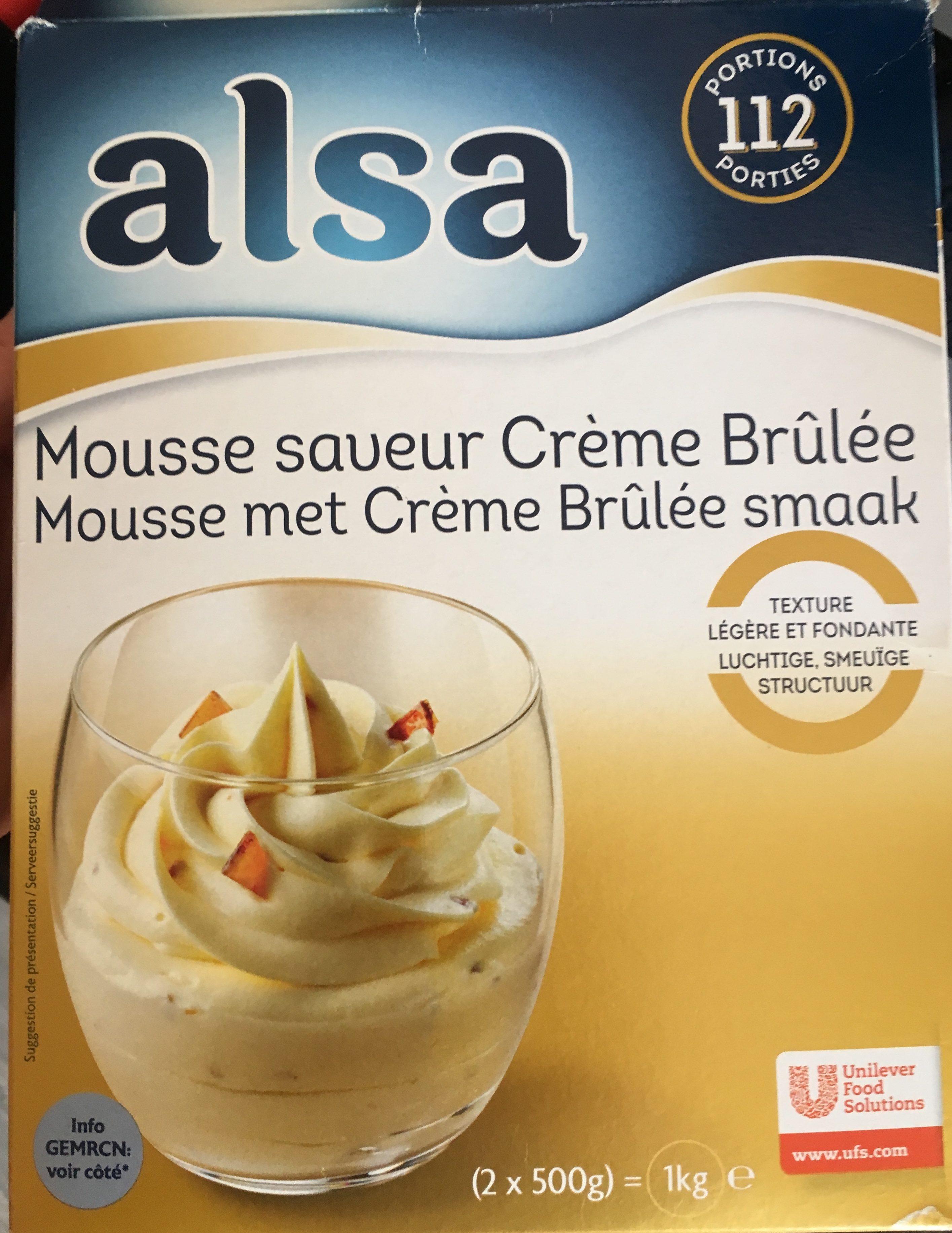 Mousse Saveur Crème Brûlée - Ingredients