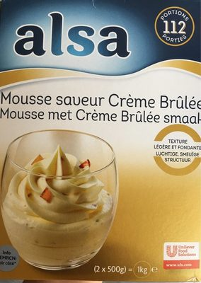 Mousse Saveur Crème Brûlée - Nutrition facts