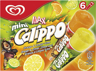 Heartbrand Glace Enfant Calippo Orange & Citron x6 480ml - Produit - fr