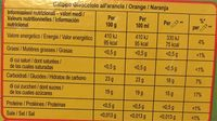 Heartbrand Glace Enfant Calippo Orange & Citron x6 480ml - Informations nutritionnelles - fr