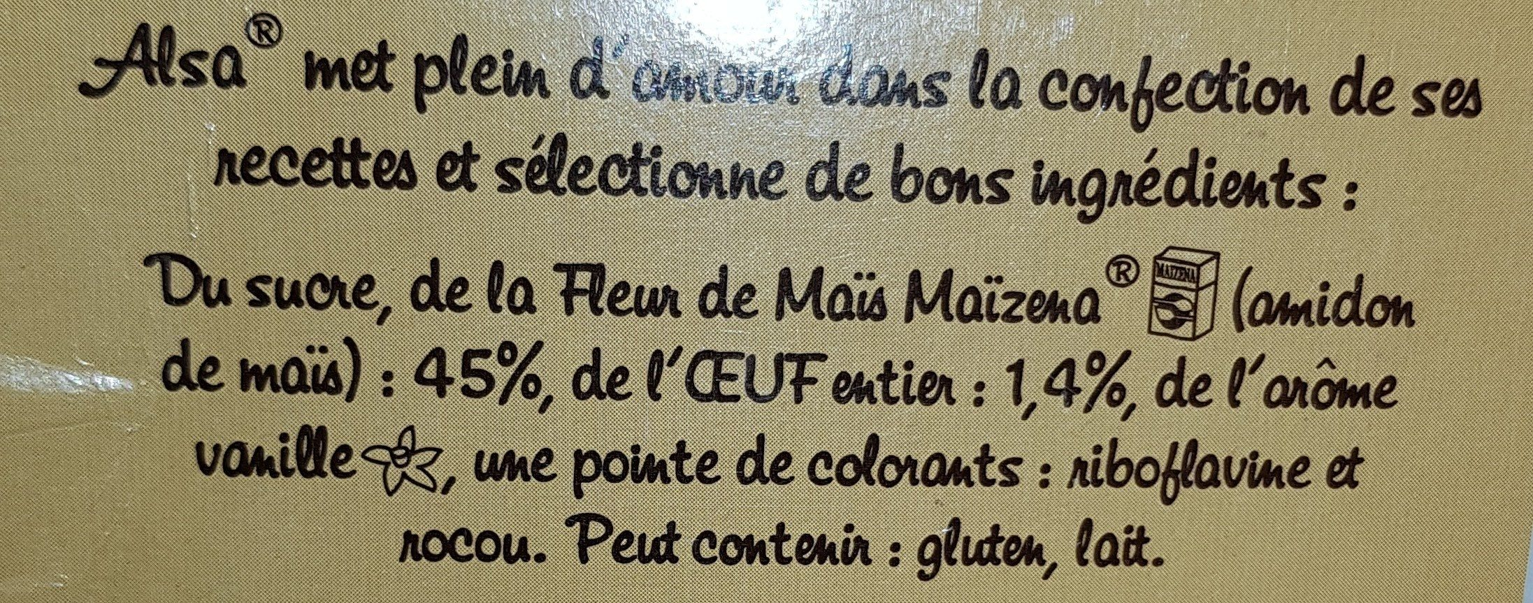 Flan Pâtissier aux oeufs - Ingredients - fr