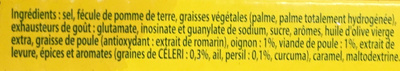 Knorr Bouillon Poule 15 Cubes Offre Saisonnière 150g - Ingrédients