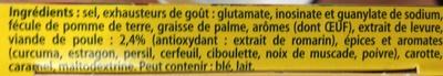 Bouillon de poule dégraissé - Ingredients