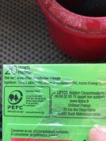 Lipton Thé Vert Mandarine Orange 20 Sachets - Ingrediënten - fr