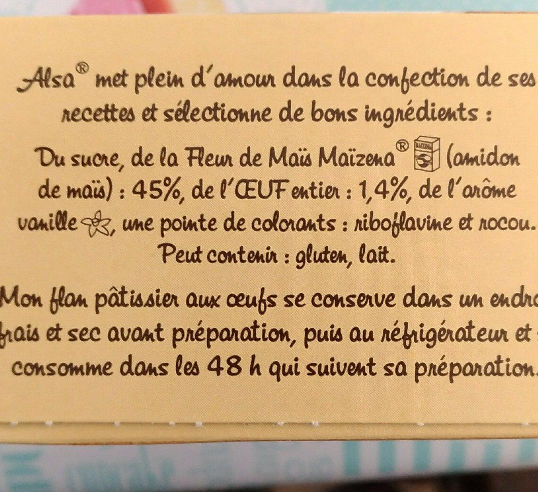 Flan pâtissier - Ingrediënten