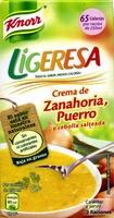 Crema de zanahoria, puerro y cebolla - Producto - es