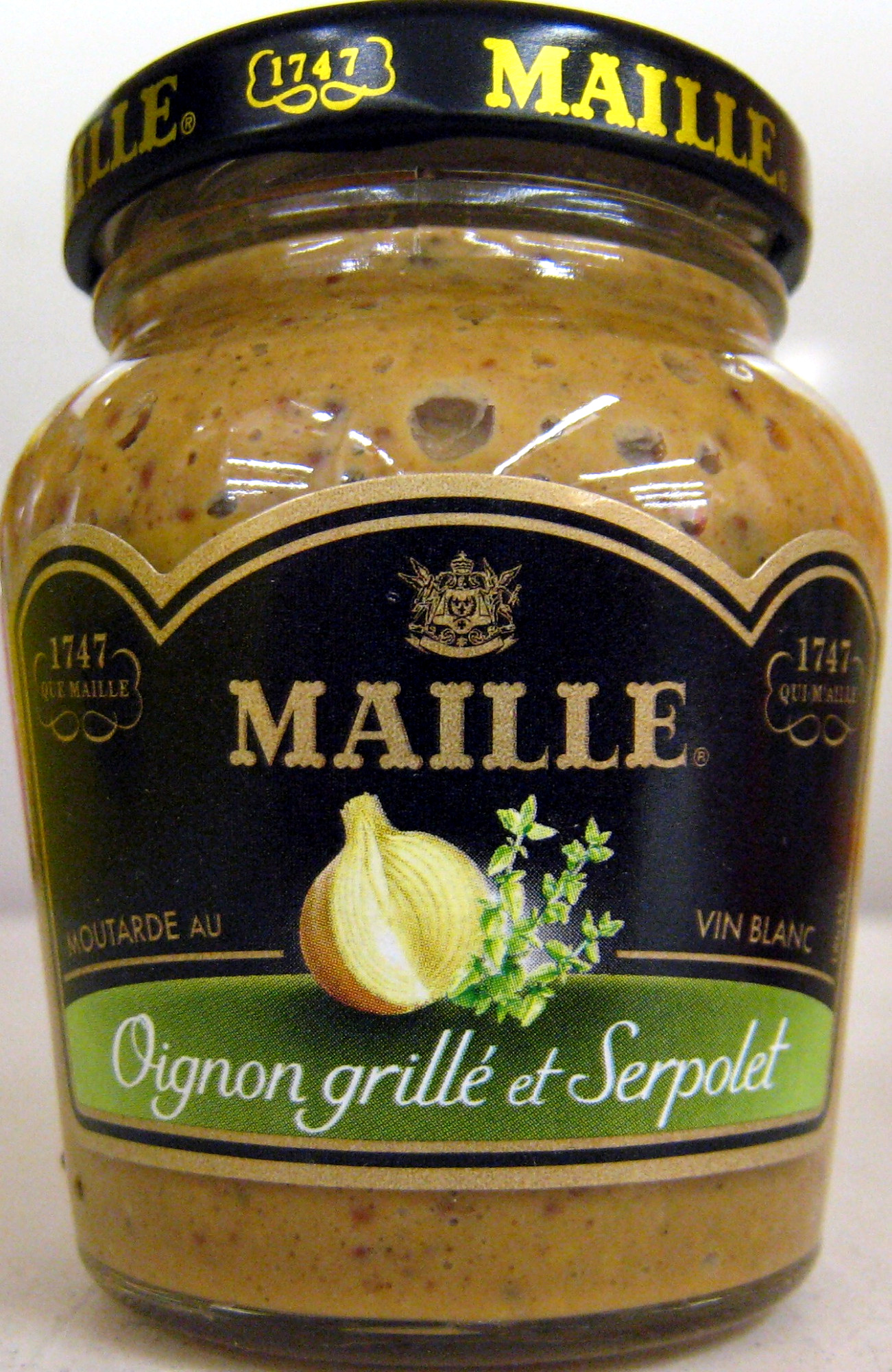 moutarde au vin blanc l 39 oignon grill et au serpolet maille 108 g. Black Bedroom Furniture Sets. Home Design Ideas