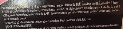 Moelleux au bon goût Citron - Ingredienti - fr