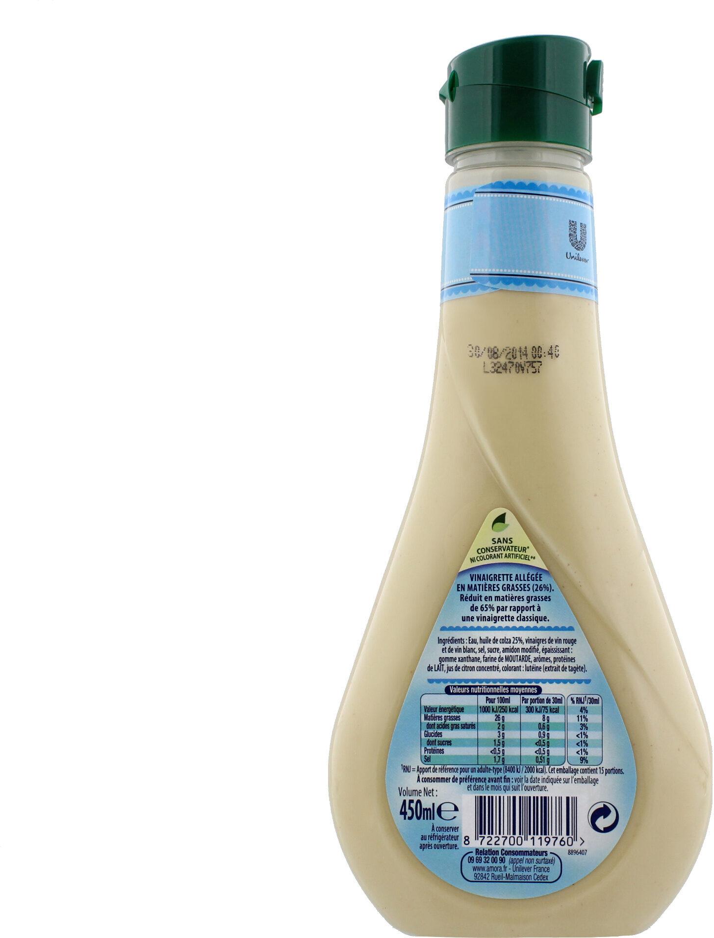Amora Vinaigrette Nature 450ml - Voedingswaarden - fr