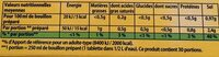 Knorr bou her oliv 15t os - Informations nutritionnelles - fr