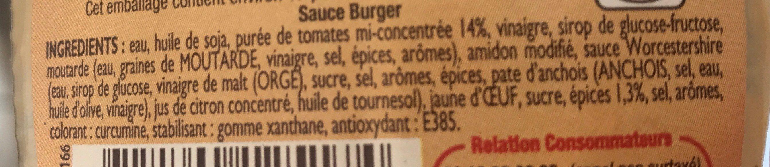 Sauce burger - Ingrédients
