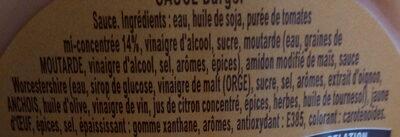 Sauce Burger - Ingrédients - fr