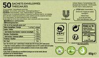 Lipton Thé Vert Classique Goût Léger & Subtil 50 Sachets - Ingredients - fr
