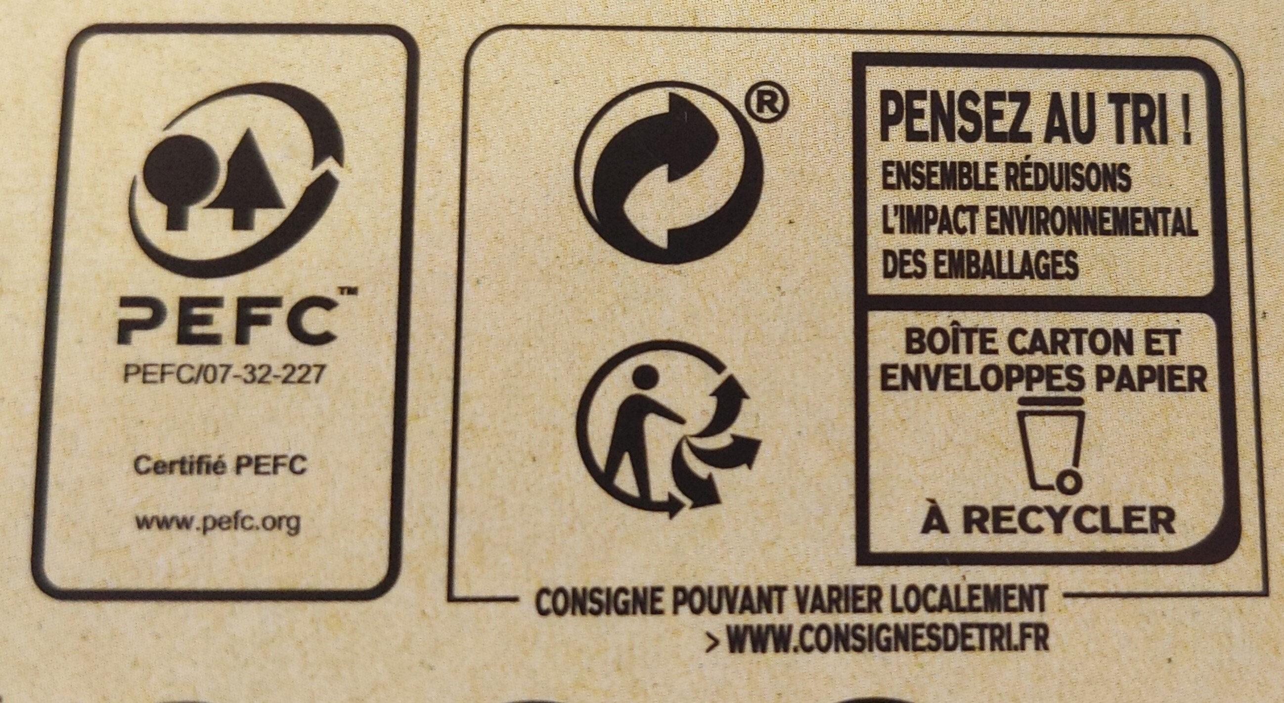 Lipton Thé Vert Classique Goût Léger & Subtil 50 Sachets - Recycling instructions and/or packaging information - fr