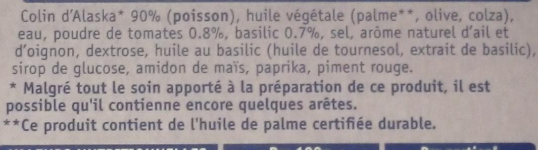 Les Océanes, 2 Grillades Tomate & Basilic - Inhaltsstoffe - fr