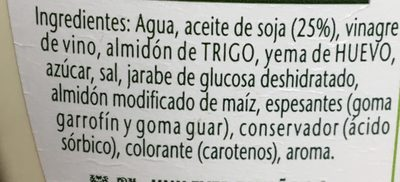 Salsa Original - Ingredientes