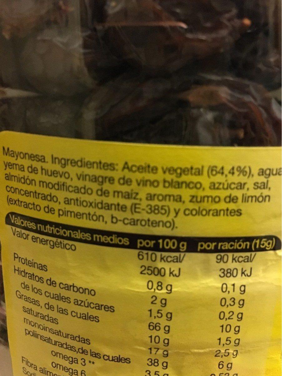Mayonnaise original - Ingrediënten