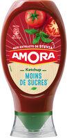 Amora Ketchup Plaisir+ Stevia Flacon Souple 465g - Produit