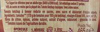 Amora Ketchup Plaisir+ Stevia Flacon Souple 465g - Ingrédients