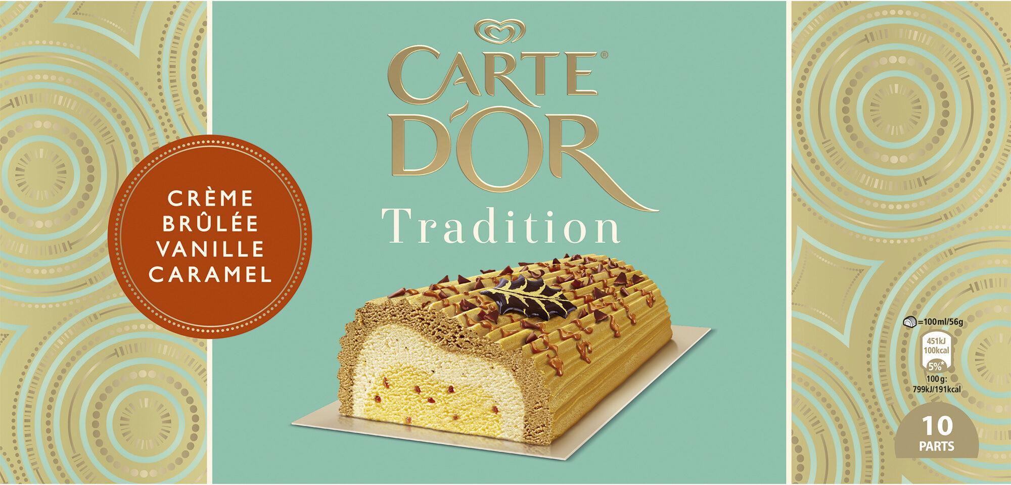 Carte D'or Tradition Buche Glacée Crème Brûlée Vanille Caramel 1l - Product