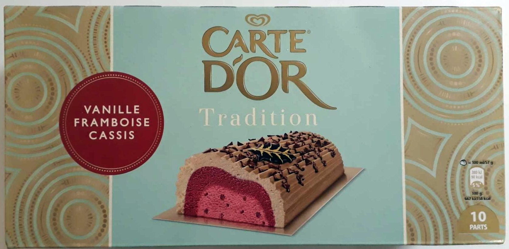 Bûche Tradition, vanille framboise cassis - Product