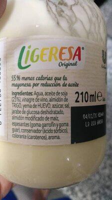 ligeresa original - Información nutricional - es
