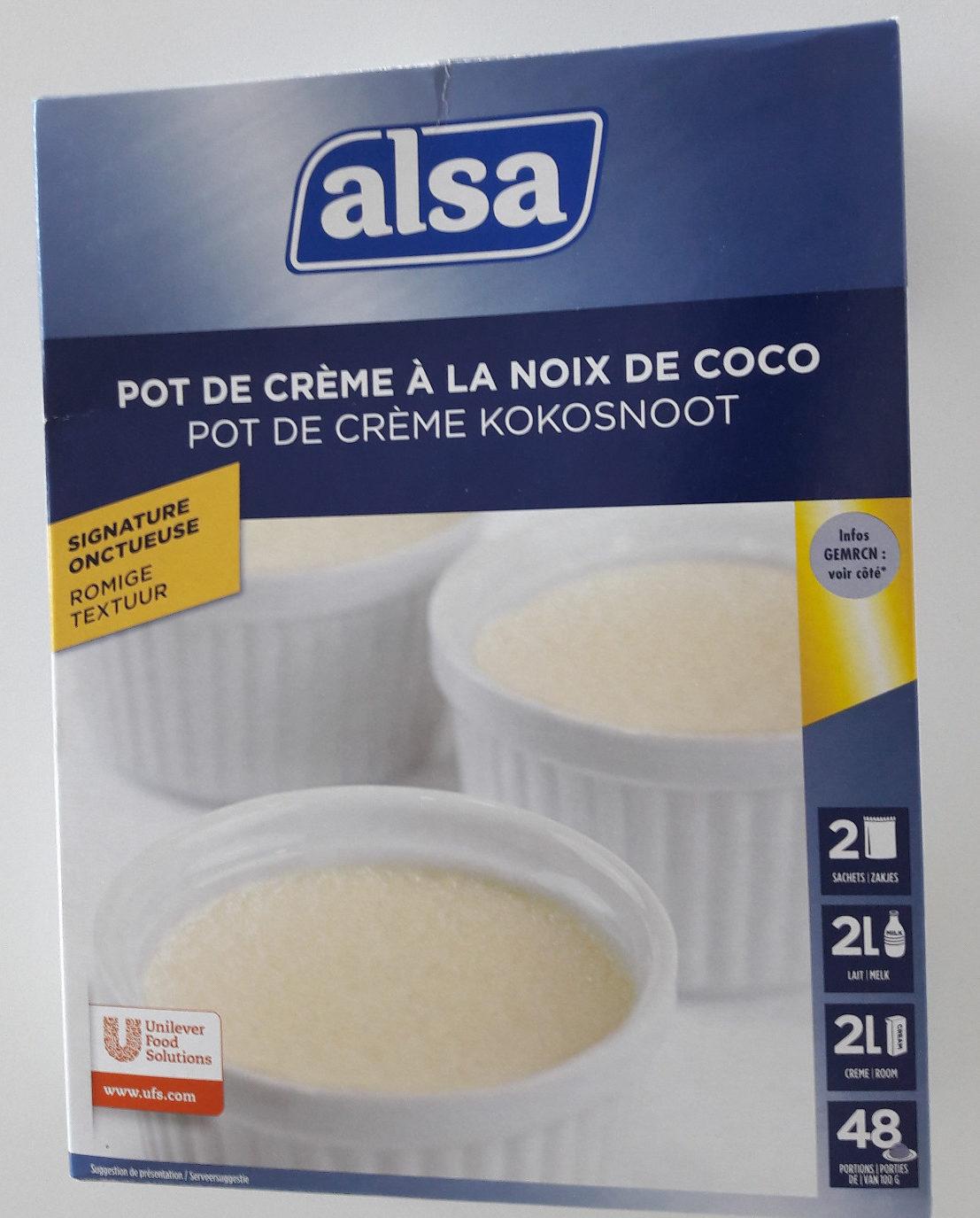 Préparation pour Pot de Crème à la Noix de Coco - Product - fr