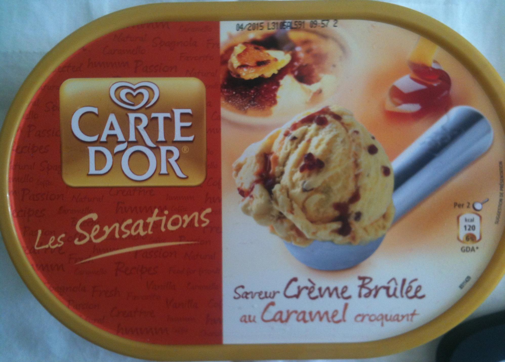 Carte d'Or - Les Sensations - Saveur Crème Brûlée au Caramel croquant - Produit - fr