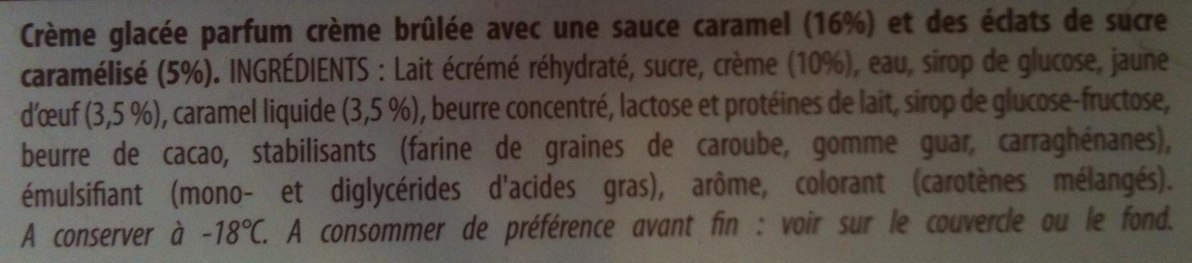 Carte d'Or - Les Sensations - Saveur Crème Brûlée au Caramel croquant - Ingrédients - fr