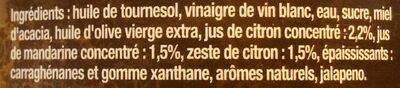 Maille Sauce Vinaigrette Agrumes 1L - Ingrédients - fr