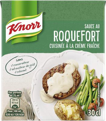 Knorr Les Moments Gourmets Sauce Chaude Roquefort Cuisinée à La Crème Fraîche Brique 30cl - Product - fr