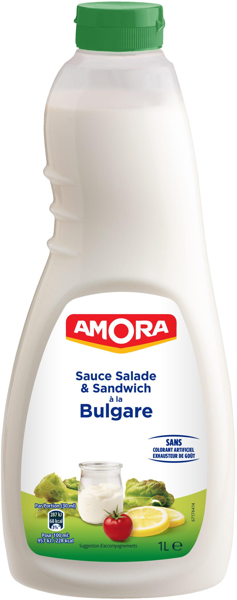 Amora Sauce Bulgare salade & sandwich bouteille - Produit - fr
