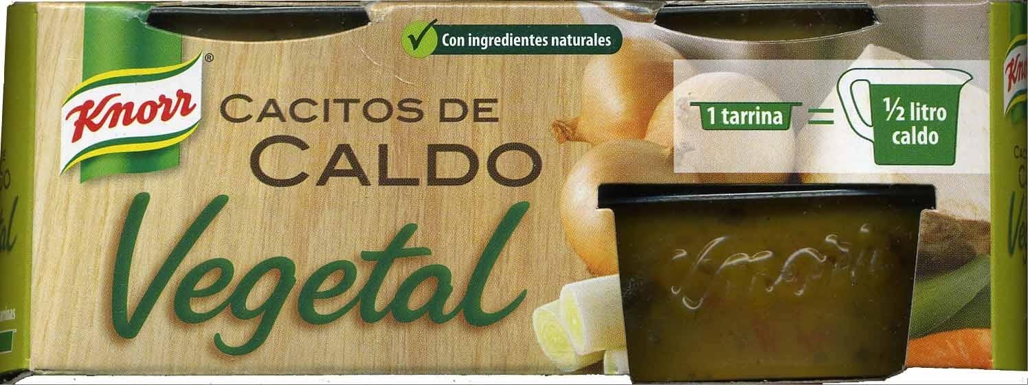 Caldo vegetal cacitos tarrinas - Producto