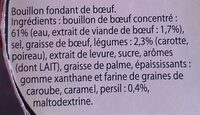 Knorr Marmite de Bouillon Bœuf 8 Capsules - Ingredients - fr