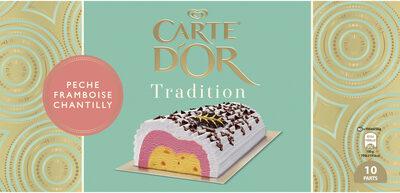 Carte D'or Tradition Buche Glacée Pêche Framboise Chantilly 1l - Produit