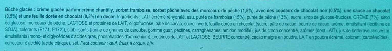 Carte D'or Tradition Buche Glacée Pêche Framboise Chantilly 1l - Ingrédients
