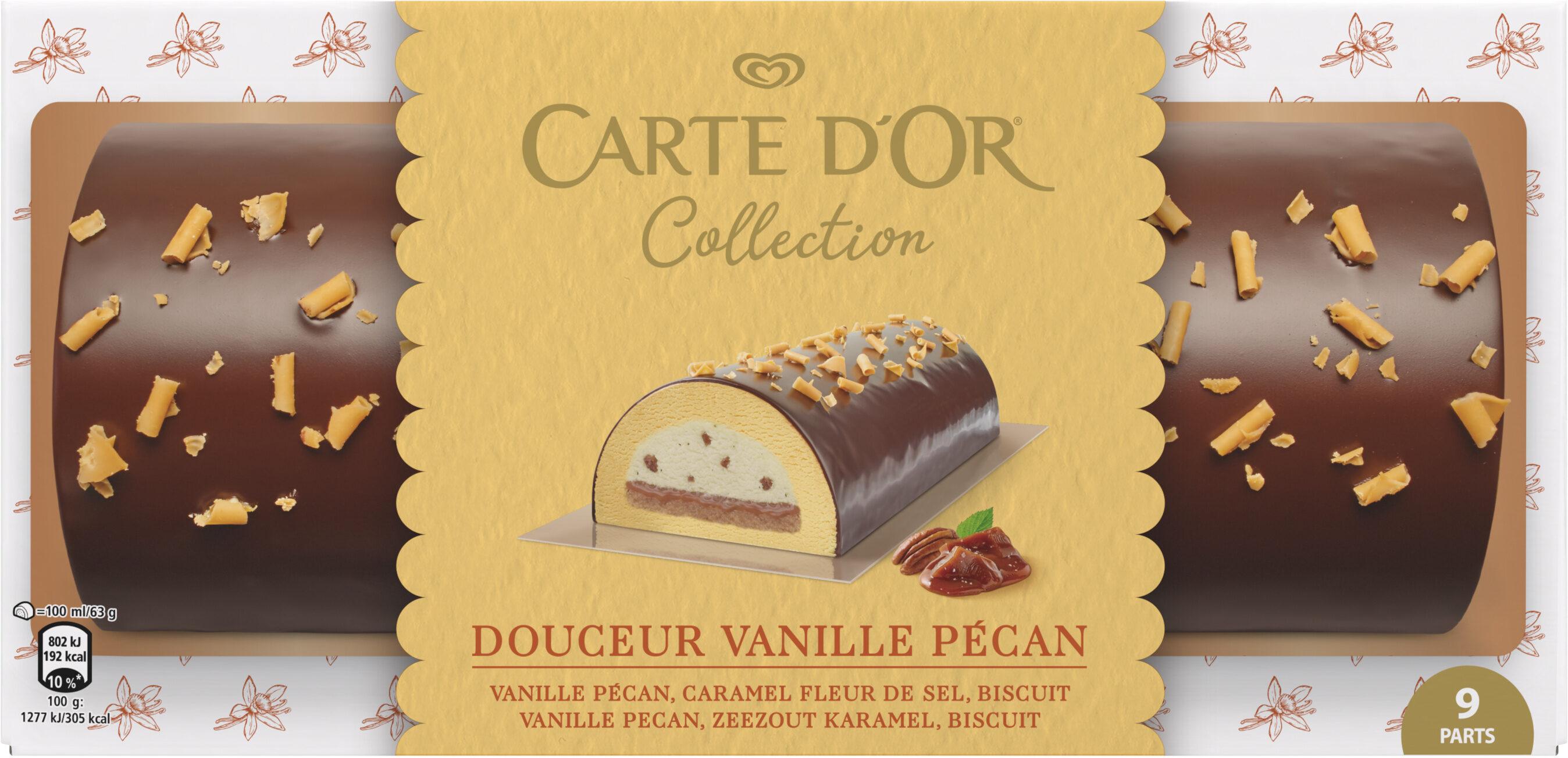 Carte D'or Collection Buche Glacée Douceur Vanille Pecan 9 parts 900ml - Product - fr